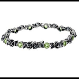 Jewelry - Sterling Roses and Peridot Tennis Bracelet
